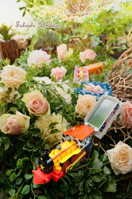 タカシのウチ花 プラレール ディズニーピクサードリームレールウェイ ウッディ保安官トレインセット